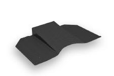 Prone breast patient positioning wedge support