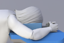 Prone breast patient positioning support module